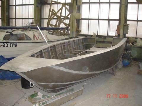 изготовление корпуса лодки из алюминия